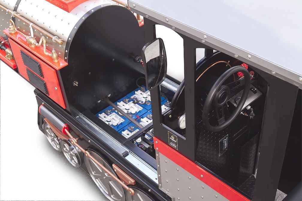 Exemple de batteries dans un train